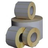 Etykiety termotransferowe papier  80x50 mm - 1000 szt gilza fi 40