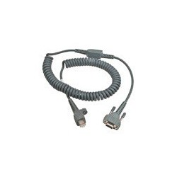 Cable, RS232 12ft 9pin coil req ext psu