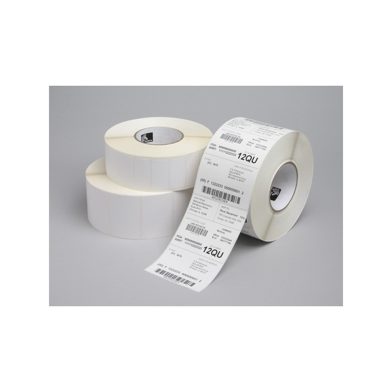 Zebra Z-Perform 1000T  37x67  mm etykiety termotransferowe papier niepowlekane 2190 szt gilza fi 76