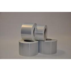 Etykiety PET srebrne 50x30 mm - 1000 szt gilza fi 40 - folia poliester