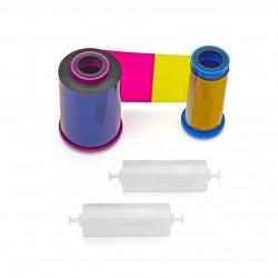 Kolorowa taśma barwiąca YMCKO do Zebra ZXP7